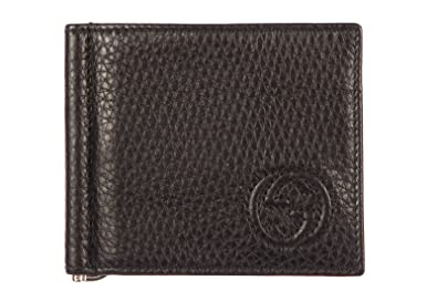 a1b1613810d2 Image Unavailable. Image not available for. Colour: Gucci men's genuine leather  money clip wallet soho black
