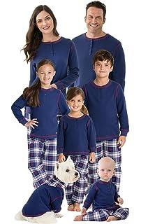 PajamaGram Family Christmas Pajamas Set - Snowfall Plaid Matching Pajamas de0535fa7