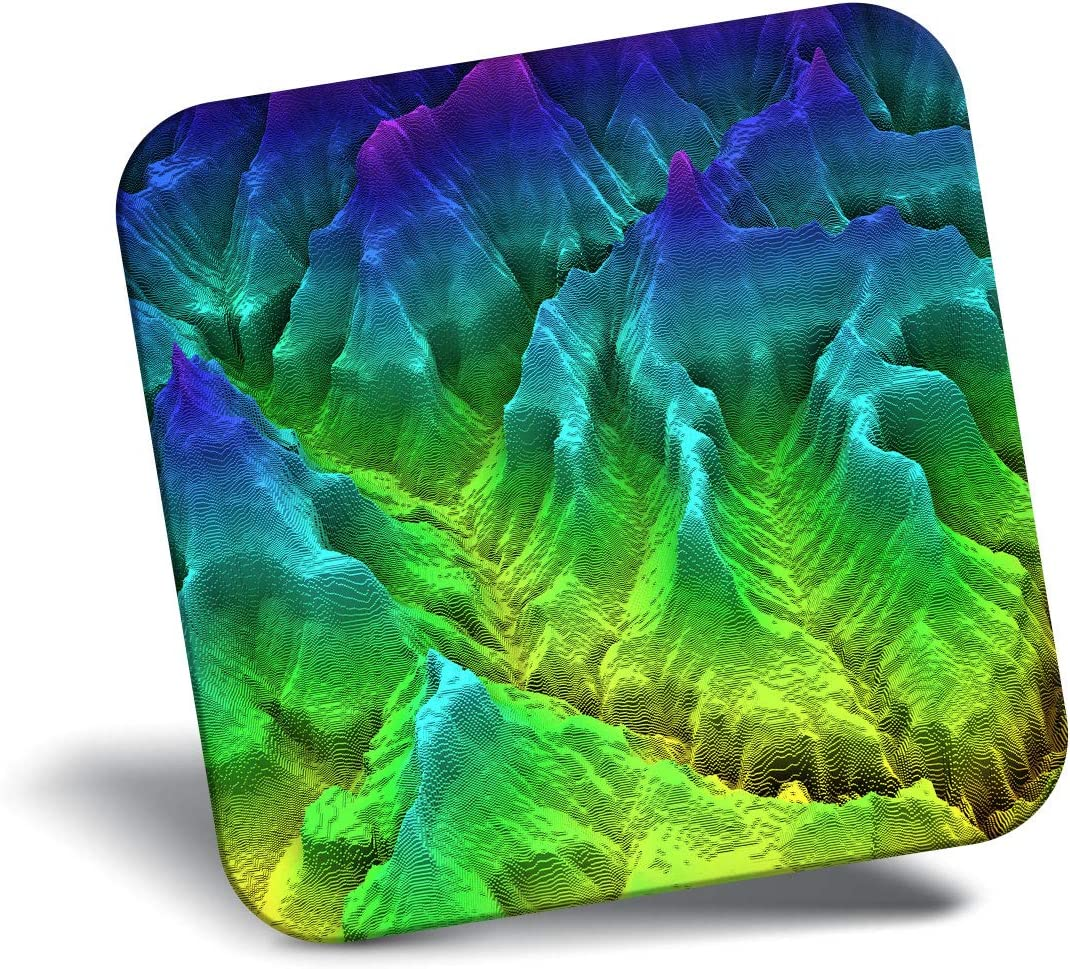 Destination Vinyl ltd Awesome Fridge Magnet - 3D Geology Map Mountain Ridge 21061
