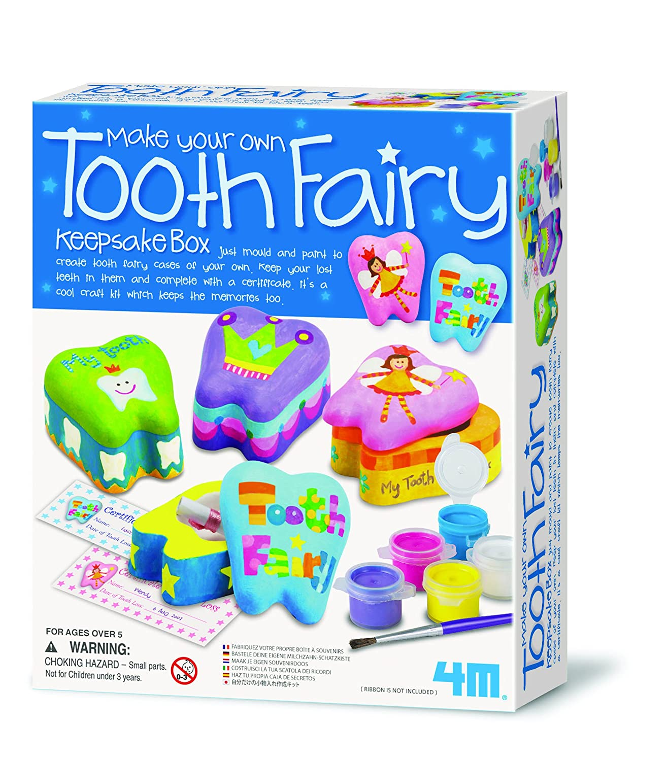 4M Make Your Own Tooth Fairy Keepsake Box Great Gizmos 4340 Arts_and_Crafts Craft Kits
