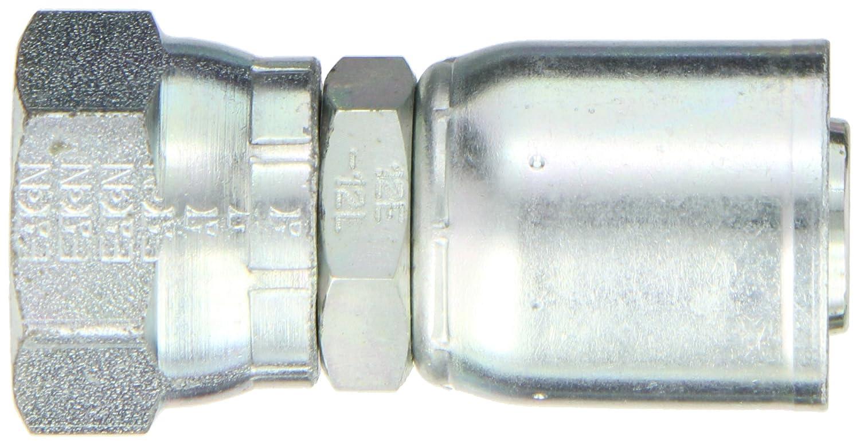 Low Carbon Steel EATON Weatherhead Coll-O-Crimp 20U-36K 30 Degree Flare Female Swivel Fitting 1-1//4 Hose ID M36x1.5 Thread Size 1-1//4 Hose ID
