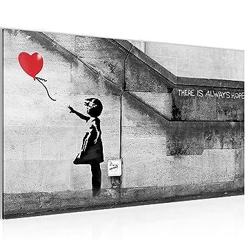 Amazon.de: Bild Banksy - Ballon Girl Street Art Wandbild Vlies ...