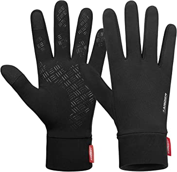 Cycling Gloves Winter Waterproof Touch Screen Full Finger Liner Gloves Men Women