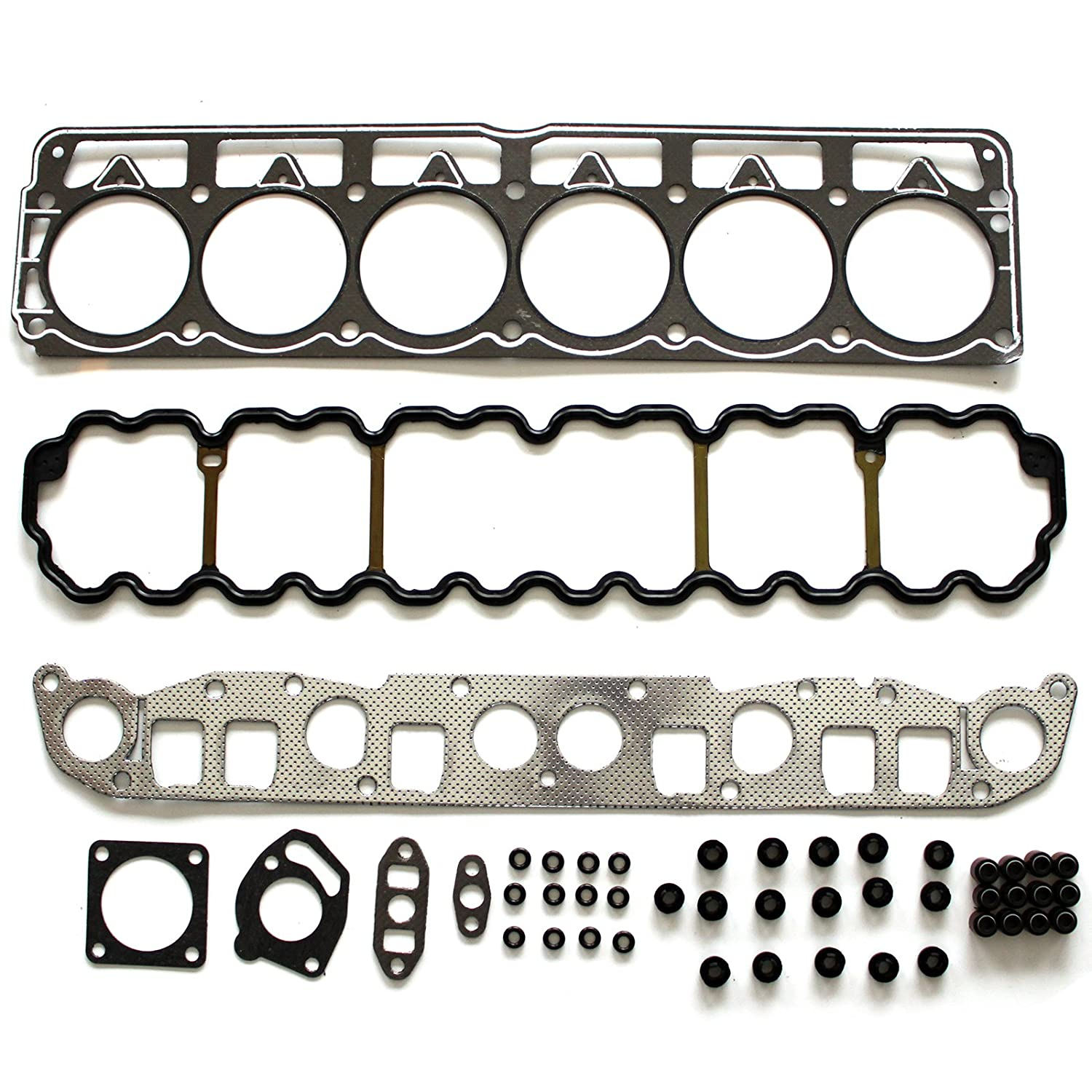 SCITOO Replacement for Head Gasket Kit fit Grand Cherokee Jeep TJ Wrangler 1999-2003 Engine Valve Covers Gaskets Set Kits 058069-5206-1734506373