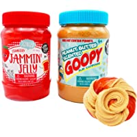 Compound Kings - Goopy Peanut Butter Fluffy Compound & Strawberry Jelly Duo Scented Slime Jars