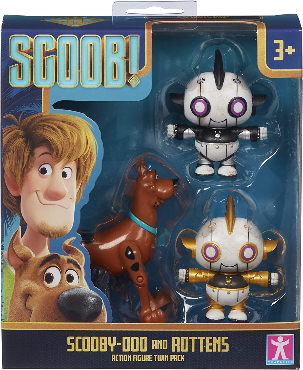 scooby and Rottens New Scooby Doo Movie Twin Pack Action Figures