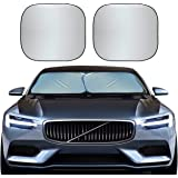 EcoNour Foldable 2-Piece Sun Shade for Car Windshield | Total Sun Heat and UV Protection with Automotive Interior Sun Protect