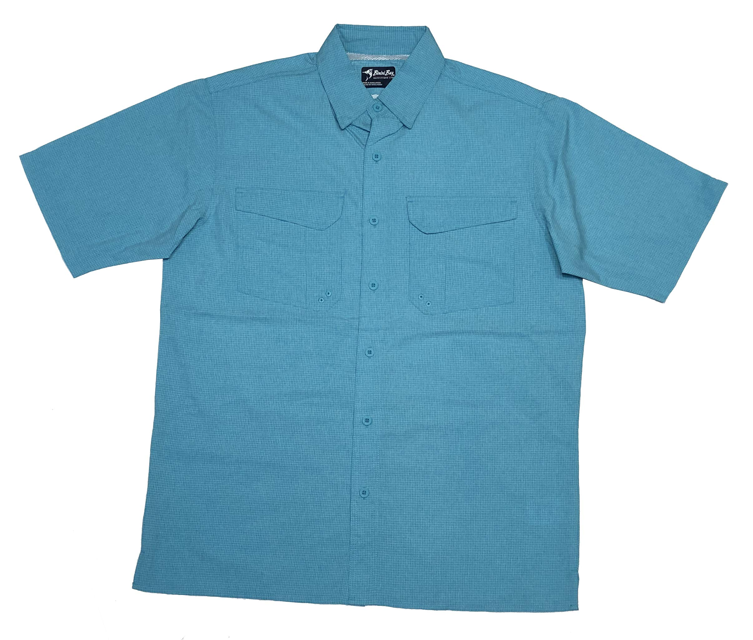 Bimini Bay Outfitters 'The Largo' Short Sleeve Shirt with BloodGuard (Aqua, XX-Large) by Bimini Bay Outfitters