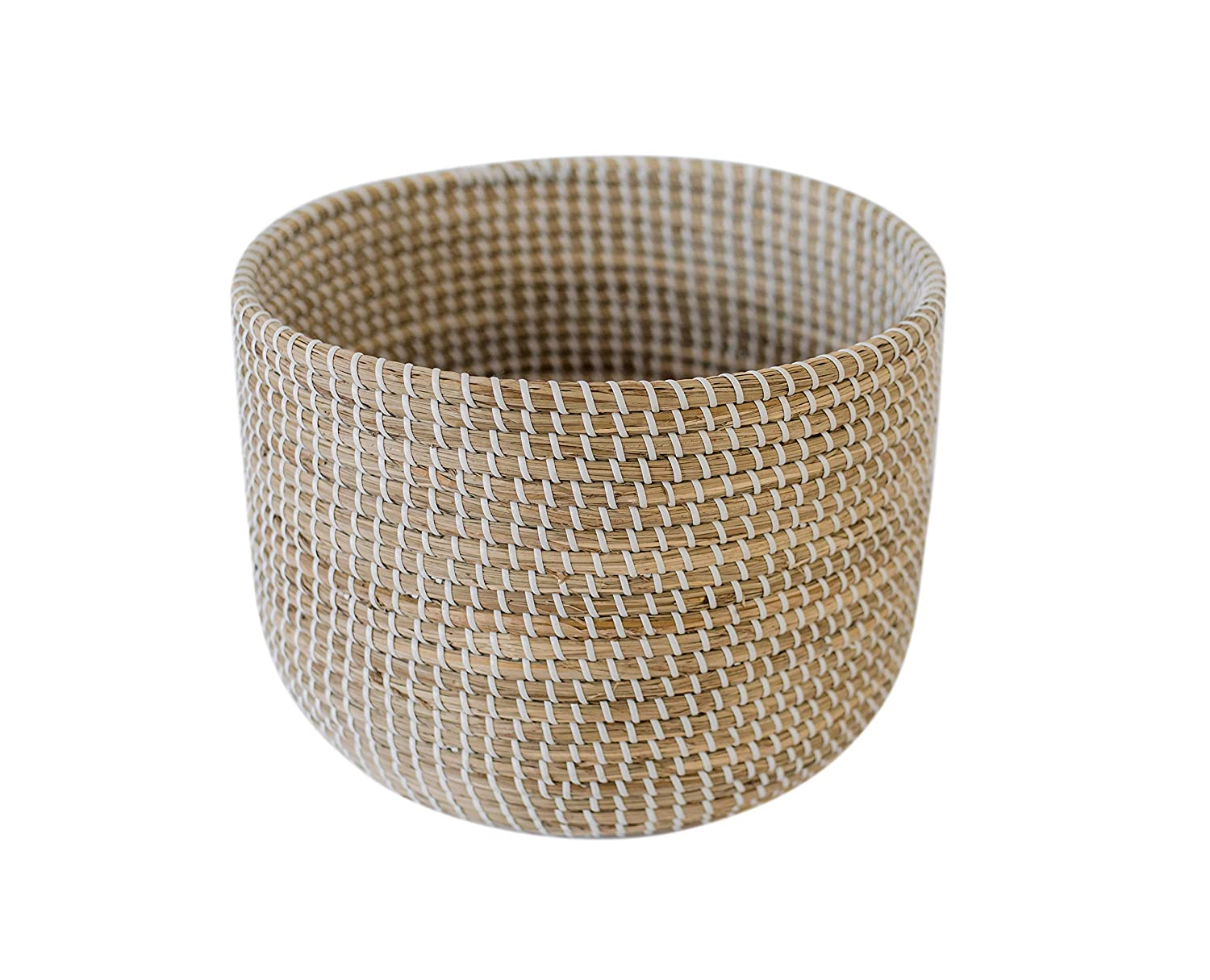 Large round seagrass storage basket - French Country Basket Inspiration: Resources for Rustic, French Market, and Boulangerie as well as photos to Inspire!