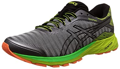 Mens Dynaflyte Poseidon, Black and Safety Yellow Running Shoes - 12 UK/India (48 EU)(13 US) Asics
