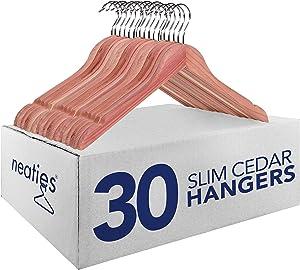 """Neaties American Red Cedar 3/8"""""""" Slim Hangers, 30pk"""