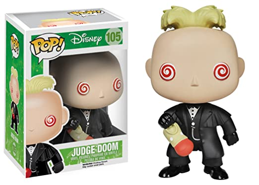 Amazon.com: Funko POP! Disney: Roger Rabbit Judge Doom Action ...