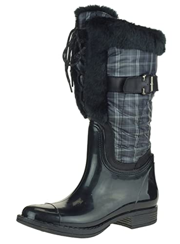 Amazon.com | London Fog LORY II Women's Insulated Rain Boots with ...