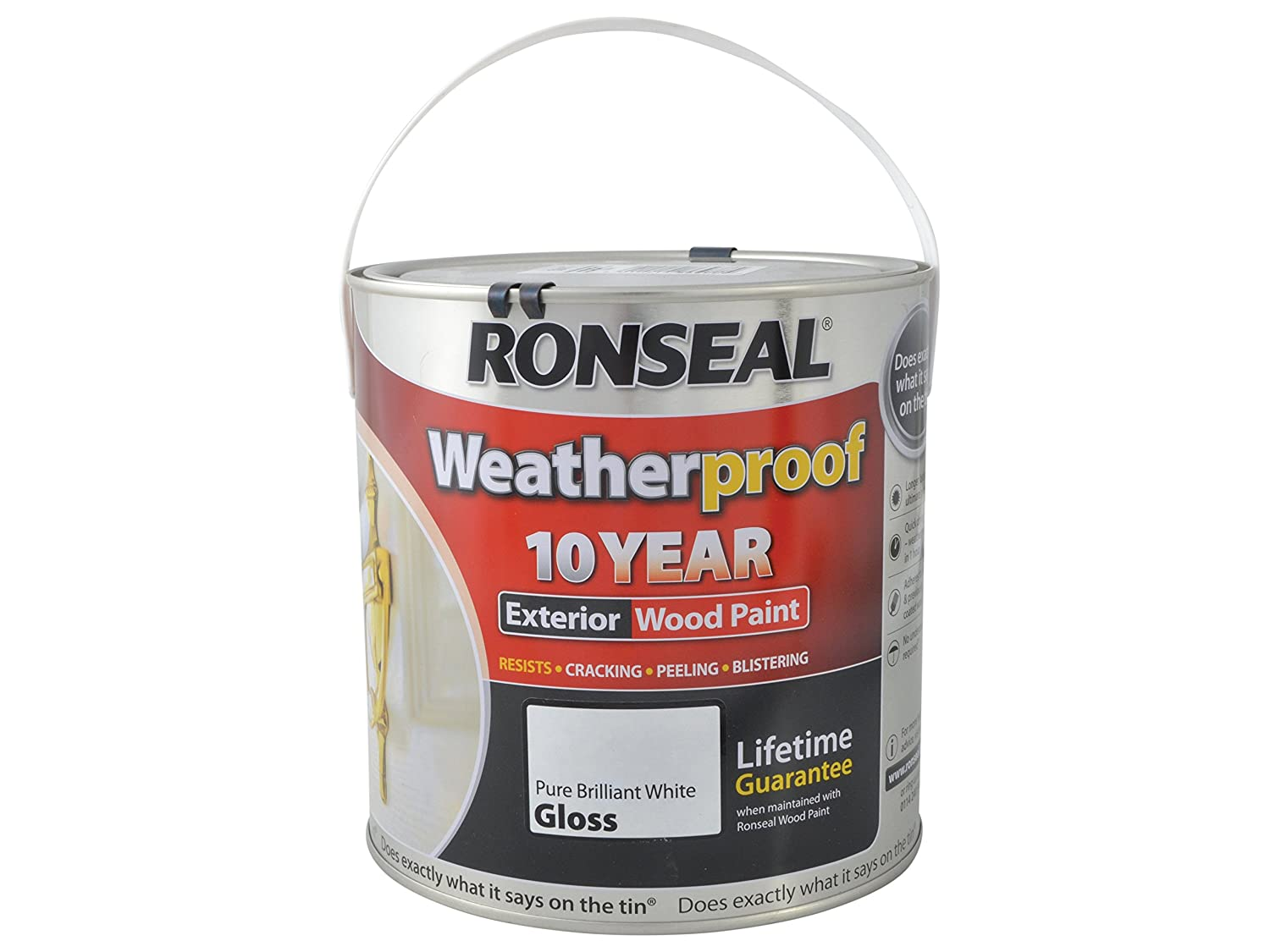 Ronseal RSLWPPBWG25L 2.5 Litre Weatherproof Exterior Wood Paint   Brilliant  White Gloss: Amazon.co.uk: DIY U0026 Tools Part 24
