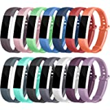 Fitbit Alta HR Bands, Soulen Soft Accessory Replacement Wristband Strap Classic Bands Available in Varied Colors with Secure Metal Clasp for Fitbit Alta HR and Fitbit Alta (14-Pack)