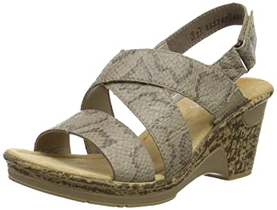 fb02fb0aece Rieker 60659-64, Women's Wedge Sandals, Grey (Taupe), 8 UK (42 EU ...