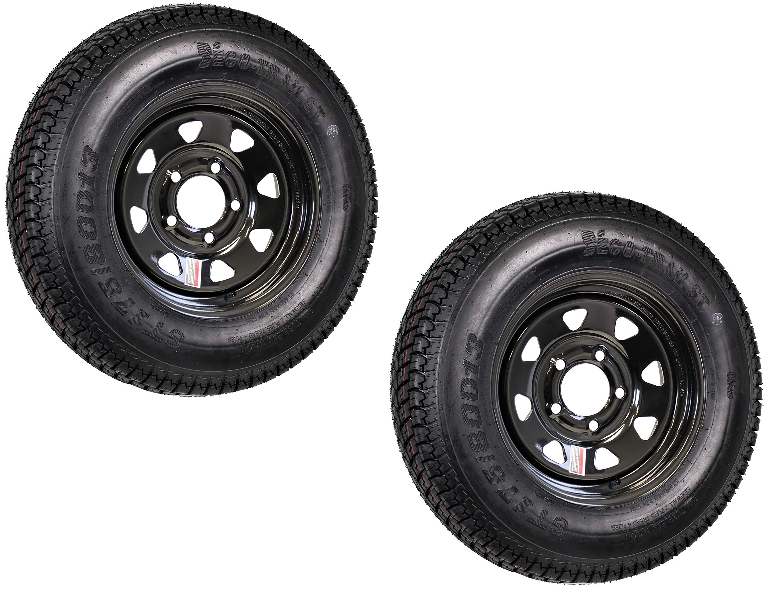 2 NEW ST 175//80D13 BOAT TRAILER TIRE 175 80 13  TWO NEW TIRES ONLY-NO WHEELS