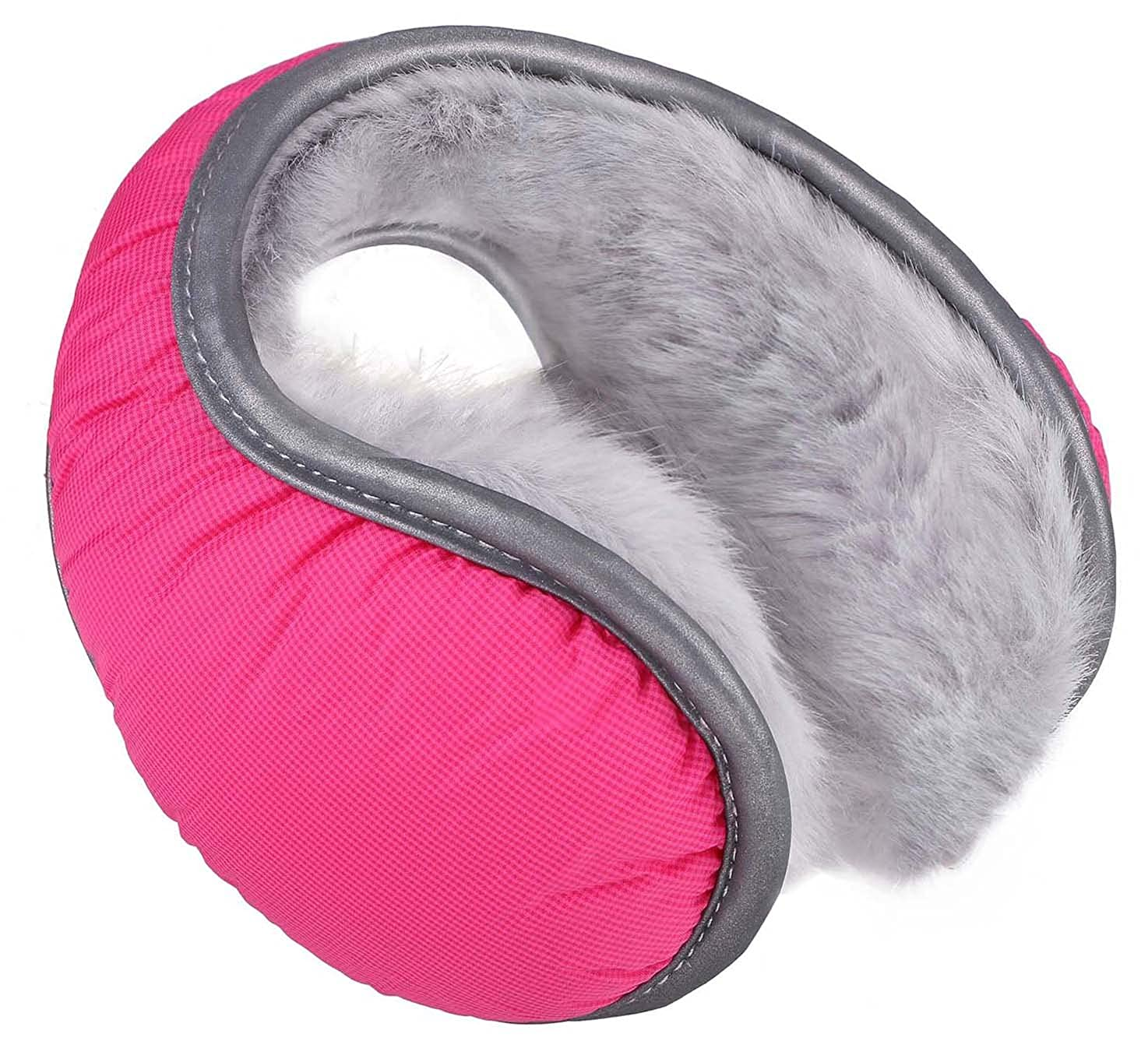 Men//Womens Winter Fleece Lined Compact Ear Muff Warmer Grey1