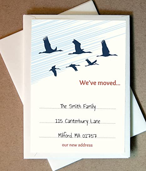 amazon com personalized we ve moved cards 40 flat cards and