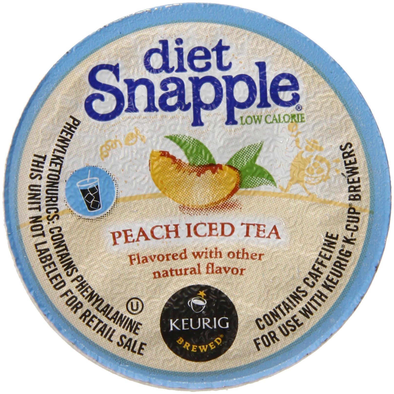 Snapple Diet Iced Tea, Peach, 22 Count Net Wt. 3.1 oz by Snapple