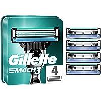 Gillette Mach3 Cuchillas de Afeitar Hombre, Paquete de 4 Cuchillas de Recambio