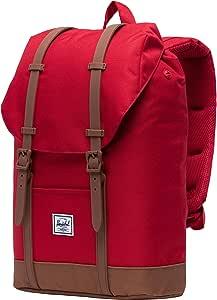 Herschel Retreat Backpack, Red/Saddle Brown, Mid-Volume 14.0L