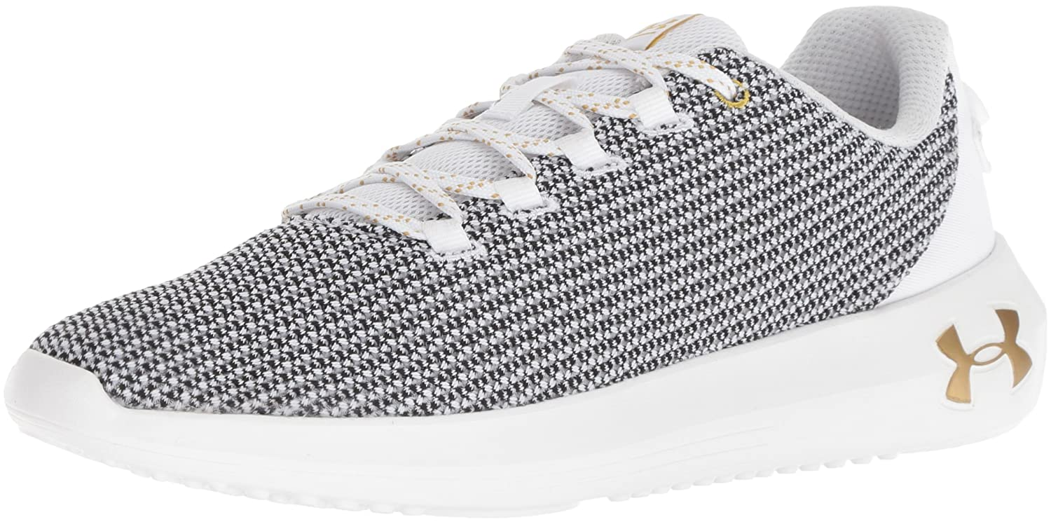 Under Armour Women's Ripple Metallic Sneaker B076S54JX6 5.5 M US|White