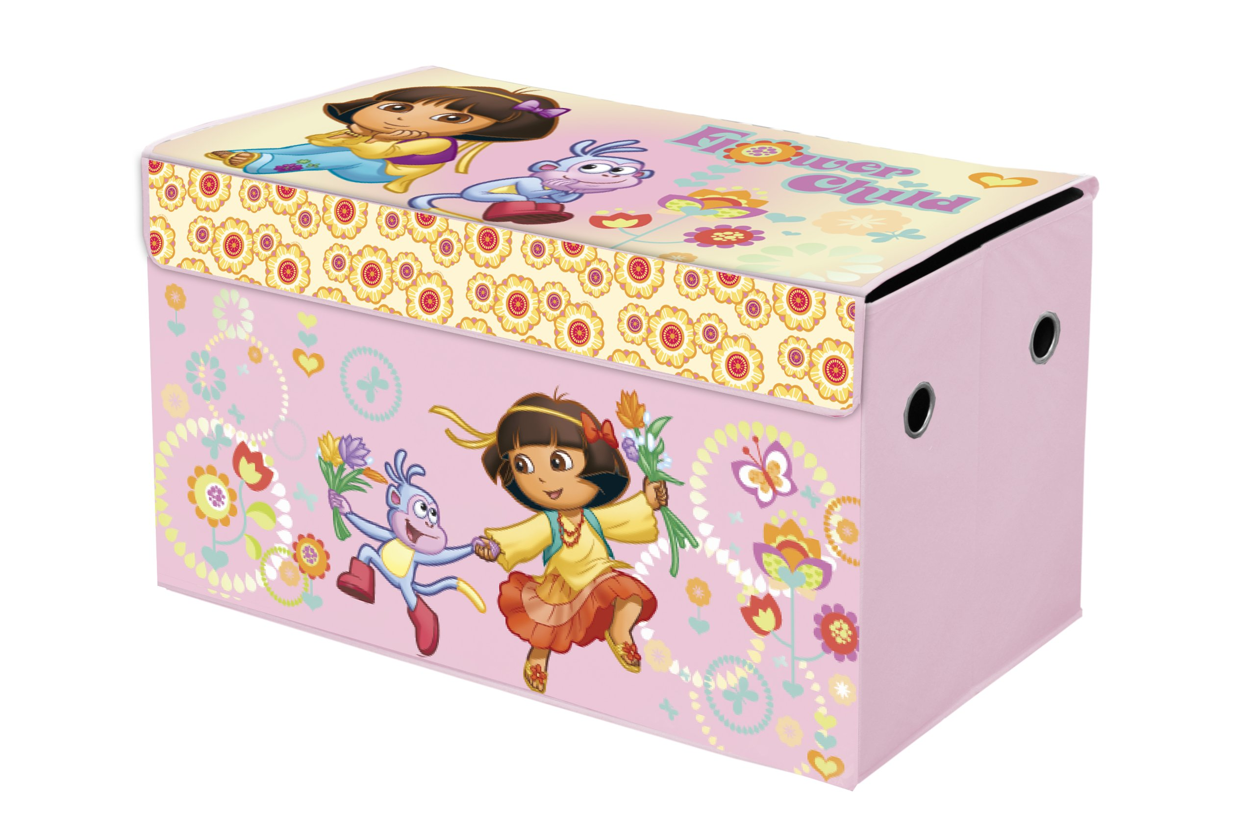 Disney Collapsible Storage Trunk Toy Box Organizer Chest: Amazon.com: Delta Children Fabric Toy Box, Nick Jr. Dora