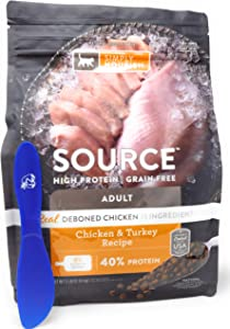 SIMPLY NOURISH Source Adult Dry Cat Food, Chicken and Turkey, 5 Pounds and Especiales Cosas Spatula