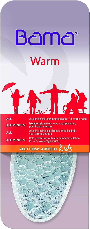 Wei/ß Winter-Einlegesohlen f/ür Kinderschuhe Sohlen f/ür warme F/ü/ße Unisex Bama Warm Alu Therm Airtech Kids