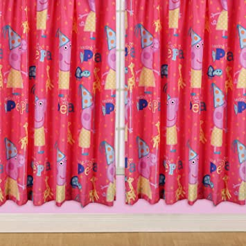 Curtains Ideas 54 inch curtains : Character World 54-inch Peppa Pig Funfair Curtains: Amazon.co.uk ...