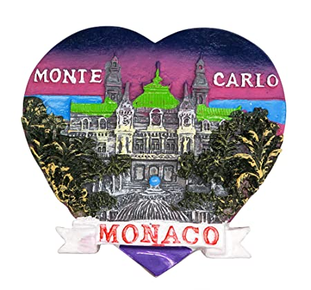Casino y Ópera de Monte Carlo, Mónaco 3D Imanes para Refrigerador ...