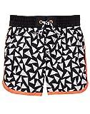 Gymboree Boys Geo Swim Trunks, Black Triangles, 4T