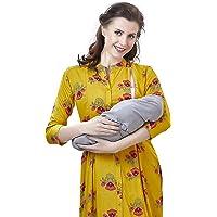 EasyFeed Designer Rayon Cotton Printed Maternity/Nursing/Easy Feeding/Breastfeeding/Kurti/Kurta/Dress/with Zippers for Post Pregnancy for Women