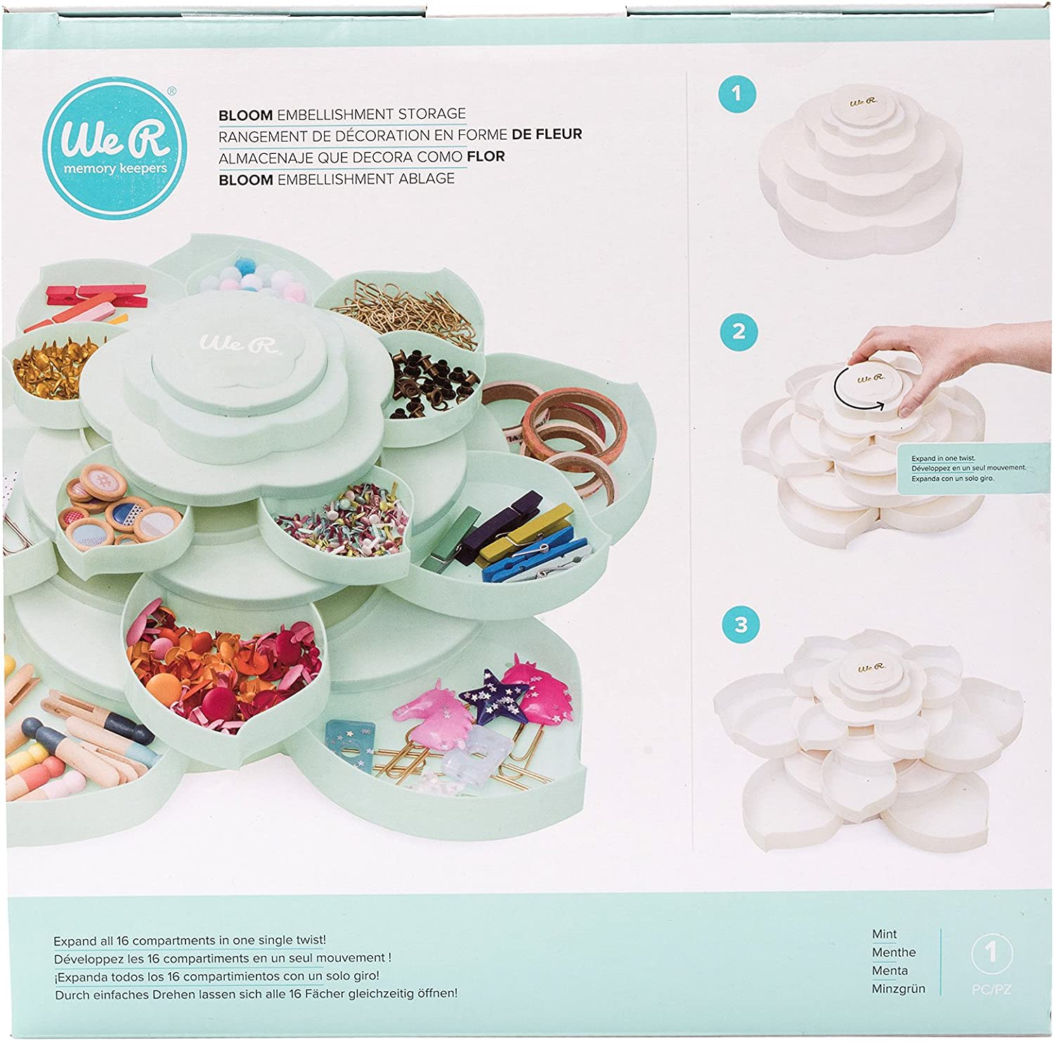 Bloom Embellishment Storage by We R Memory Keepers   Mint