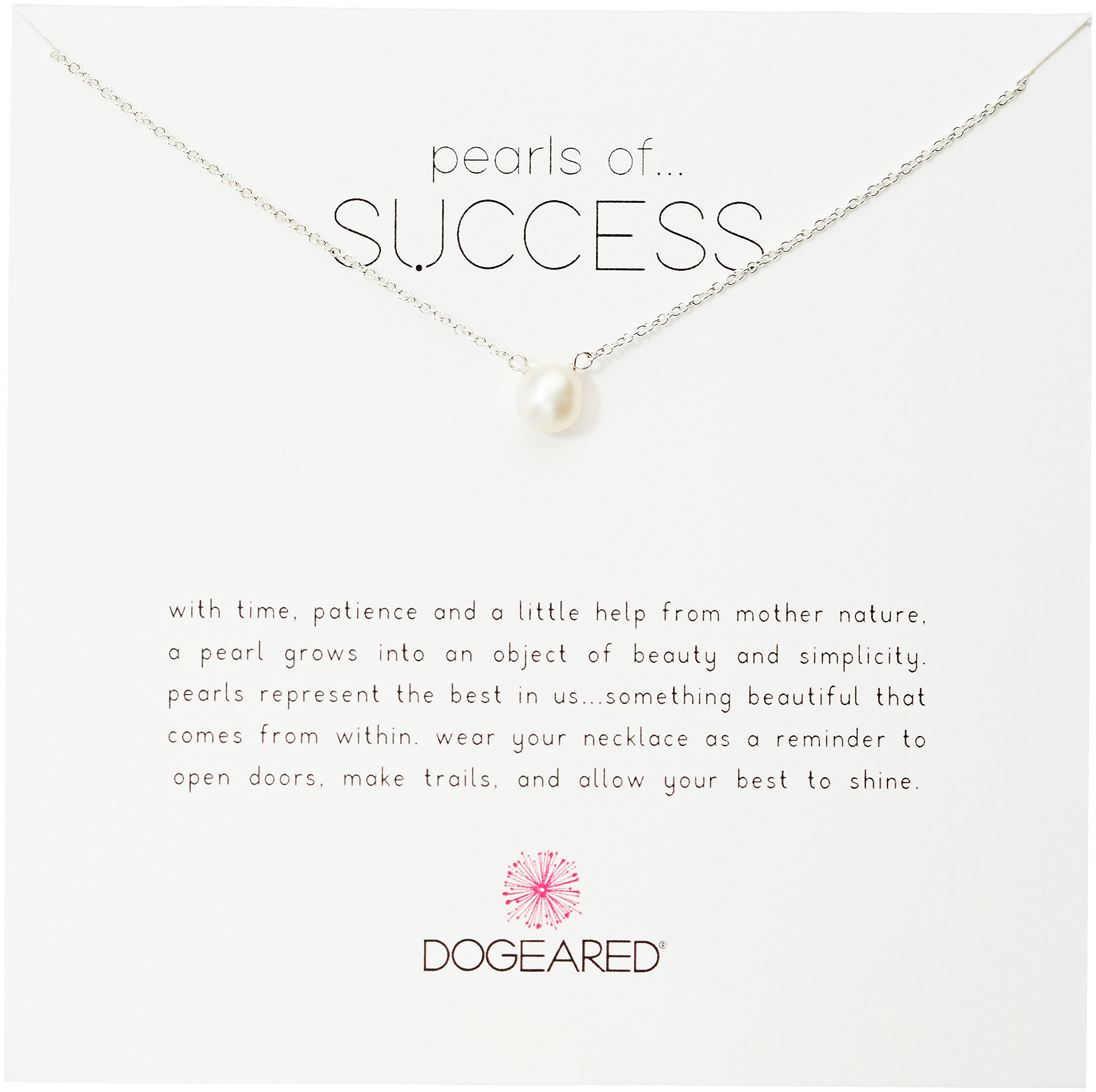 Dogeared Pearls of Success, Small White Pearl, Silver Chain Necklace, 16''+2.5'' Extender