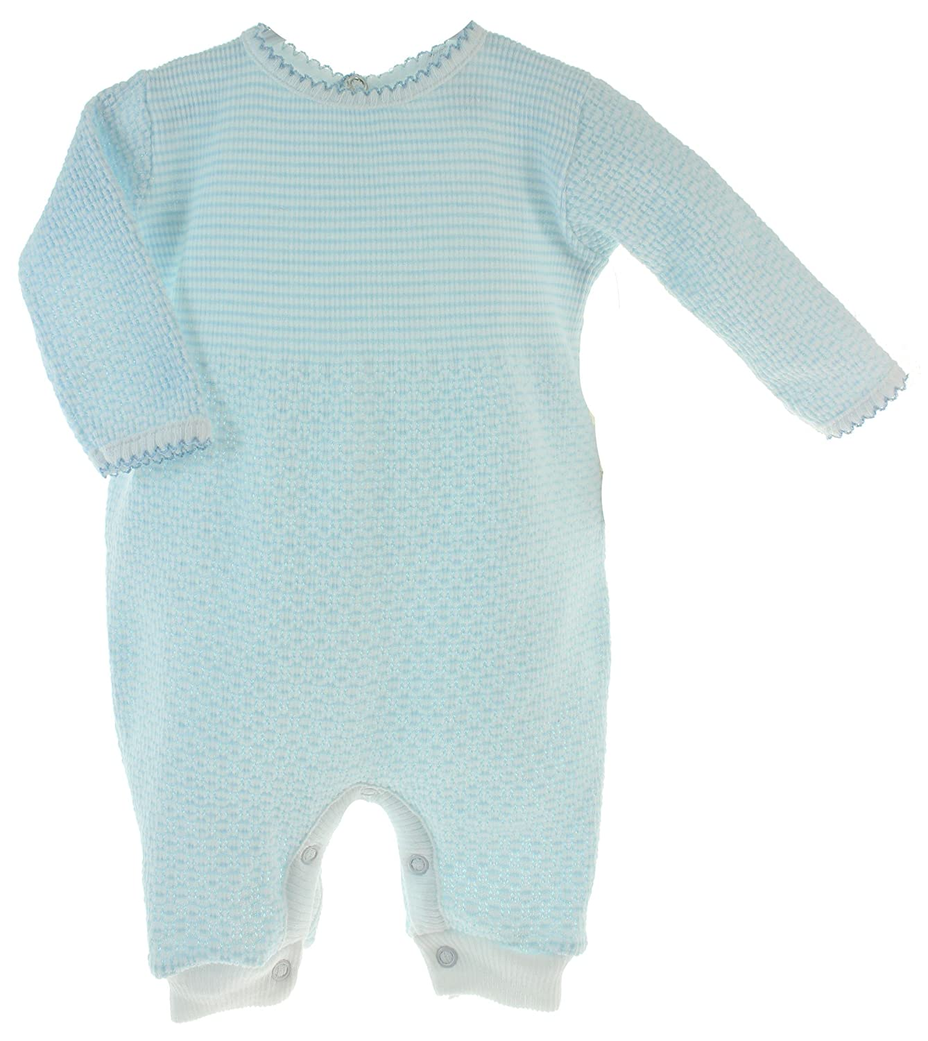 Paty Inc Baby Boys Take Home Sleeper Outfit Blue White Monogrammable