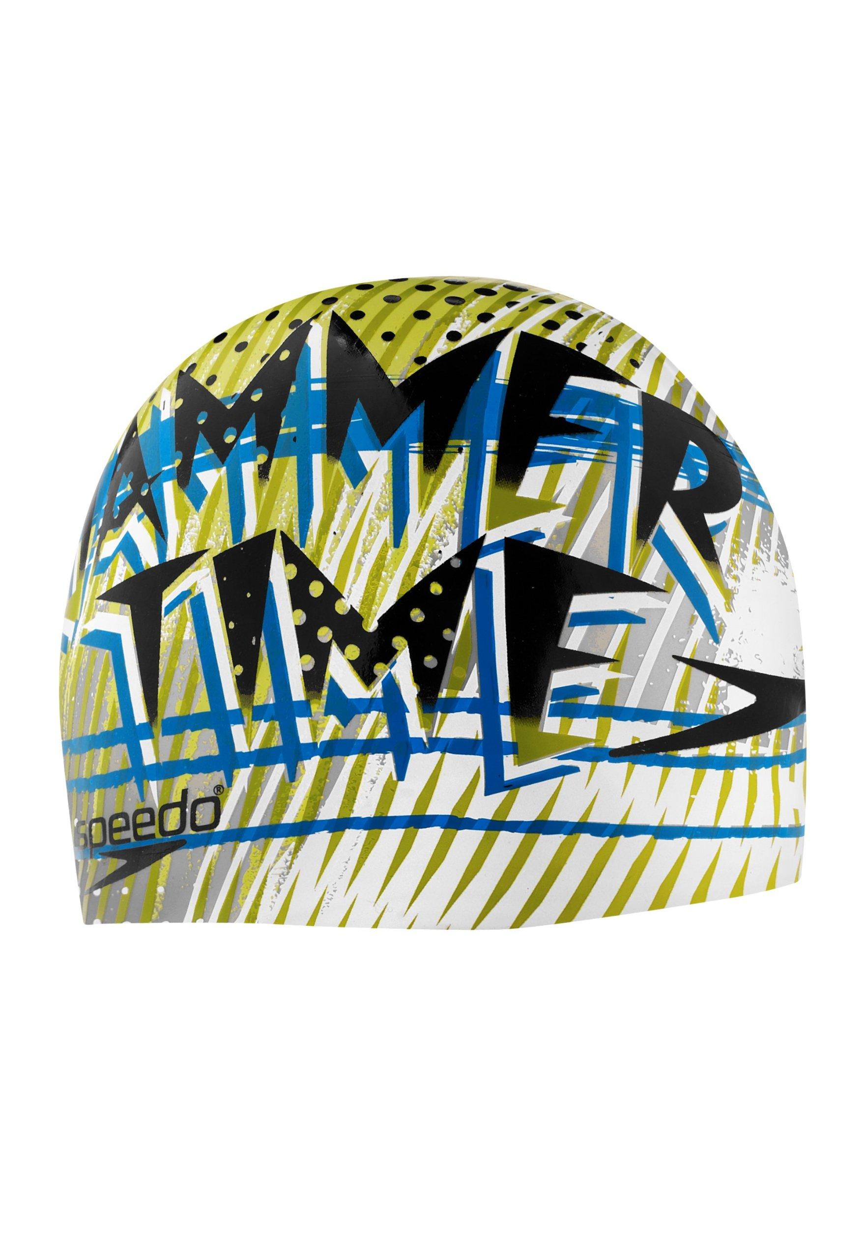 Speedo Silicone 'Jammer Time' Swim Cap, Black