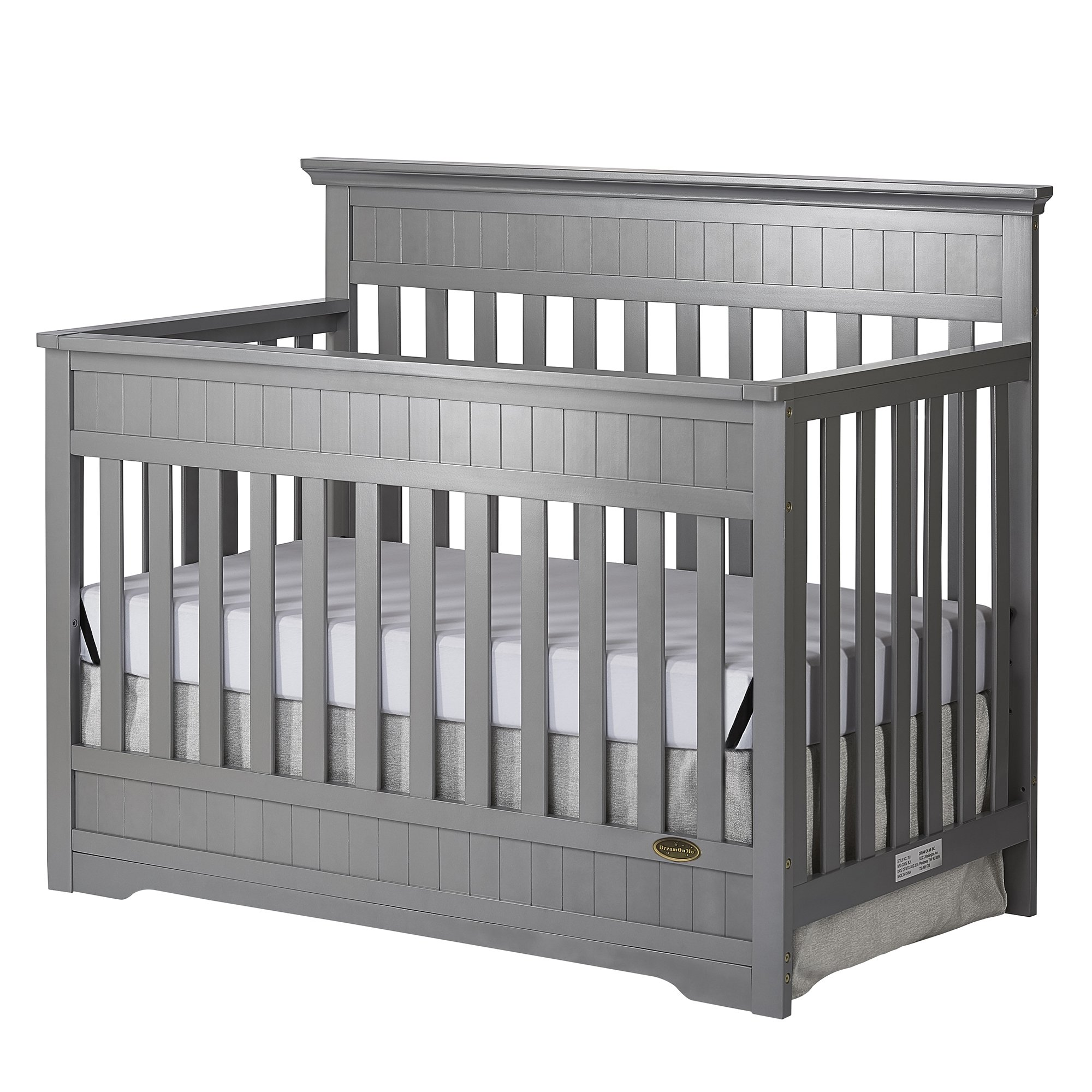 Dream On Me Chesapeake 5-In-1 Convertible Crib, Storm Grey