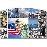 Sous-main SIPS NEW YORK , en polymousse, recto brillant verso en mousse noire 2 mm d'épaisseur, 59 x 39 cm