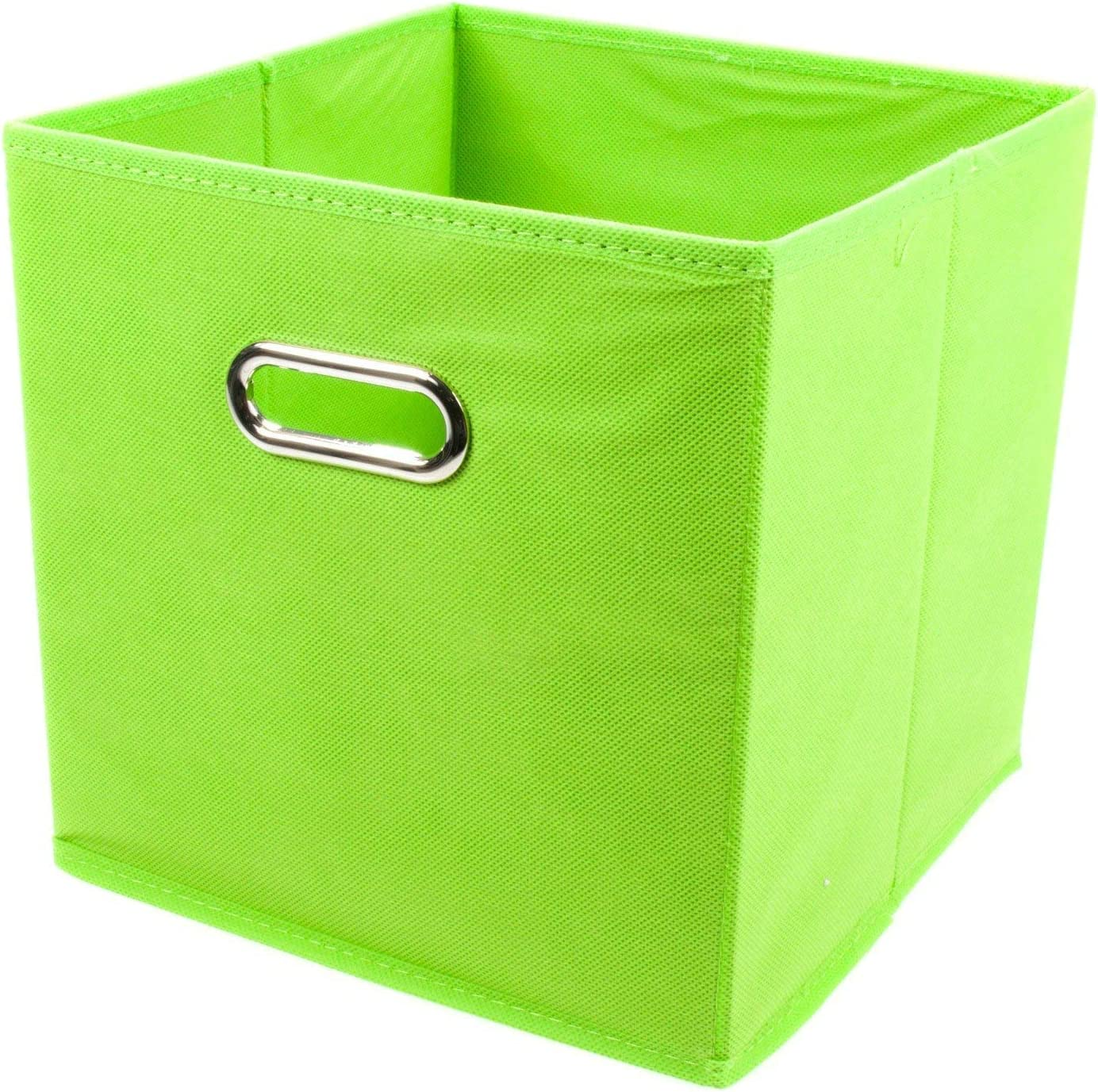 Zeller 14134 - Caja de almacenaje de tela, plegable, 28 x 28 x 28 cm, color verde: Amazon.es: Hogar