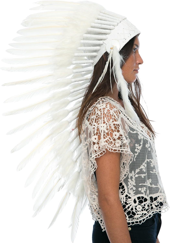 Native American Indian Headdress Multi-Color War Bonnet Adult Costume Accessory