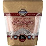 SaltWorks Ancient Ocean Himalayan Pink Salt, Medium Grain, 5 Pound Bulk Bag