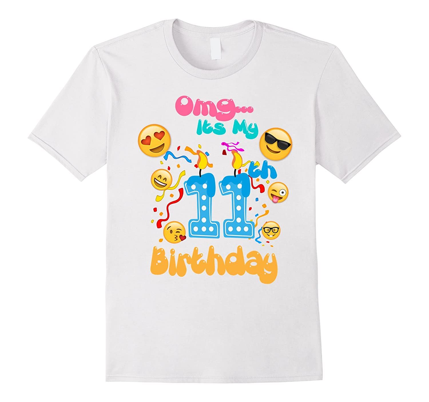 Emoji T-Shirt for 11 Year Old Awesome Kids Birthday T-Shirt-CD
