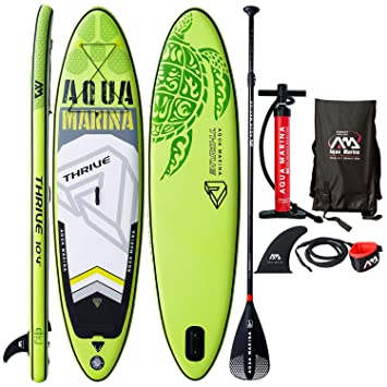Modern-depo Aqua Marina Thrive - Tabla de paddle hinchable de 22,86 cm con kit de accesorios estándar: Amazon.es: Hogar