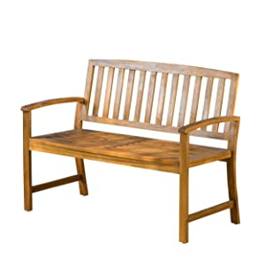 Great Deal Furniture Tamika Teak Finish Acacia Bench