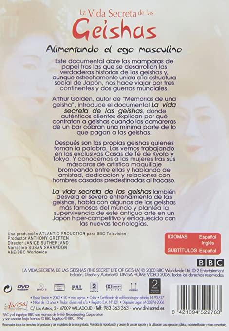 La Vida Secreta De La Geishas [DVD]: Amazon.es: Varios, Janice ...