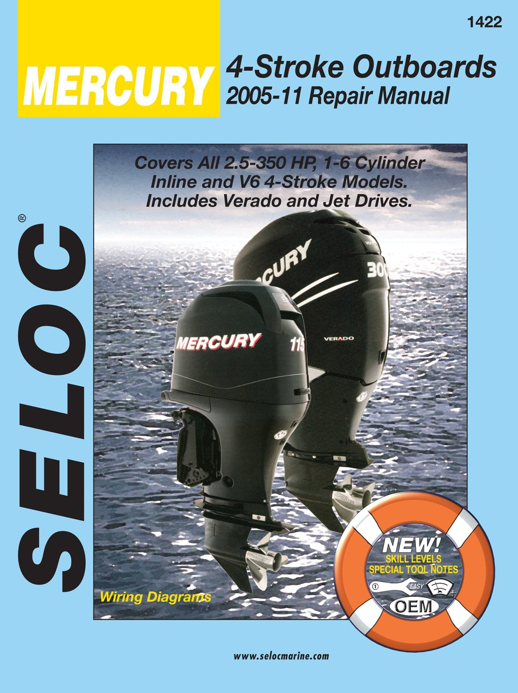 seloc repair manual mercury 4 stroke outboards 2005 2011 includes jet drives Ford 4.0 Engine Diagram