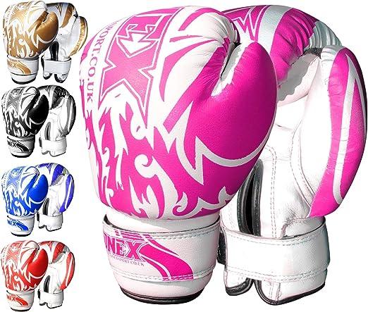 ONEX 6 oz Guantes de Boxeo (Boxing Gloves), MMA, Muay Thai Junior Artes Marciales. (Pink): Amazon.es: Deportes y aire libre