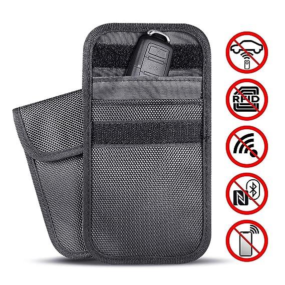 6458e0caeeb8 Newseego RFID Key Fob Protector Bag, Car Key Fob Pouch Fob Blocker  Protector Signal Blocking Bag Pocket, Block Signal Security Keyless Entry  Key Fobs, ...